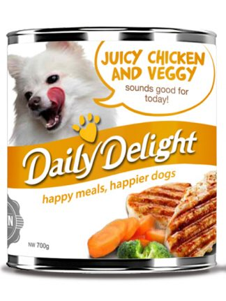 Daily Delight Dog Cans - Juicy Chicken with Veggy