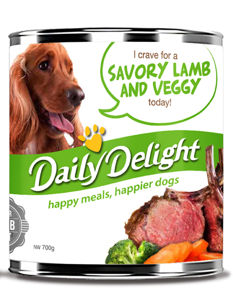 Daily Delight Dog Cans - Savoury Lamb with Veggy