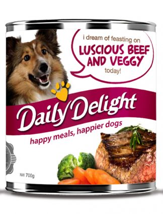 Daily Delight Dog Cans - Luscious Beef and Veggy