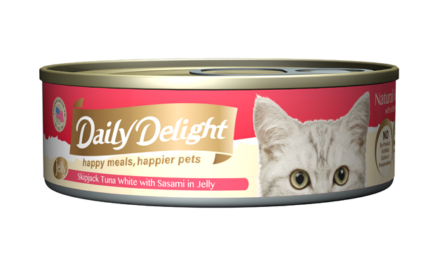 Daily Delight Cat Cans - Skipjack Tuna White with Sasami in Jelly