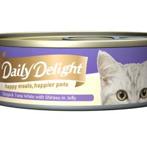 Daily Delight Cat Cans - Skipjack Tuna White with Shirasu in Jelly