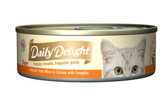 Daily Delight Cat Cans - Skipjack Tuna White & Chicken with Pumpkin