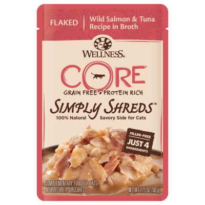 wellness core simply shreds wild salmon n tuno flaked