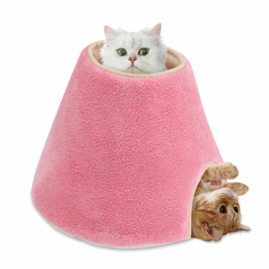 CT250 – Marukan Fluffy Snow Hut Bed for Cat