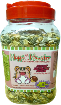 Happi Hamster Healthy Immune System Fortified Nutritional Diet