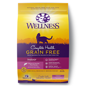 wellness complete health grain free indoor salmon